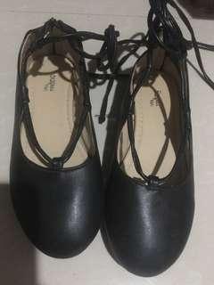 Sugar Kids Lace up black shoes