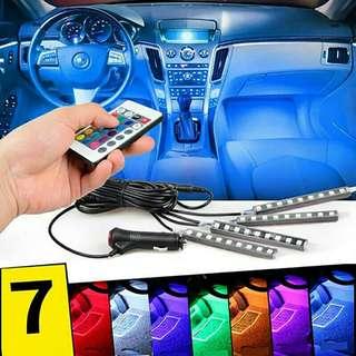 LED remote Control Colourful RGB car Interior Floor Atmosphere Light Strip