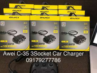 Awei C-35 3Socket Car Charger