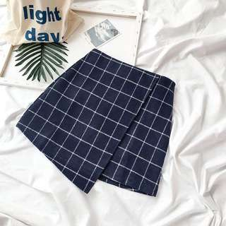 韓版包臀格子裙(毛呢材質)