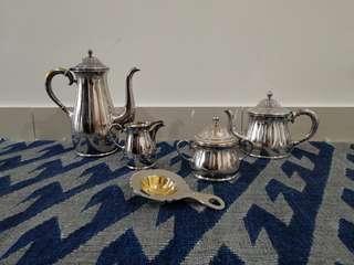 Authentic Bruckmann & Söhne Silver-Plated Tea / Coffee Set