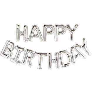 "SALE INSTOCKS 16"" Happy Birthday Balloon Bunting - Rose Gold / Gold / Silver"