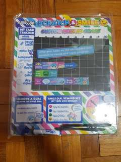 Smiggle scratch & smile reward chart