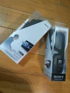 正版日本SONY 3D 眼鏡*2