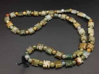 舊工天然翡翠糯種特色頸串