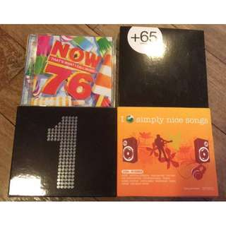 Assortment Music CDs Pop Songs I Love Simply Nice Songs Retro Now That's What I Call Music 76 +65 Indie Undergound 1 Classic Oldies