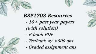 BSP1703 / BSP1005 Textbook Past Year Papers & Notes