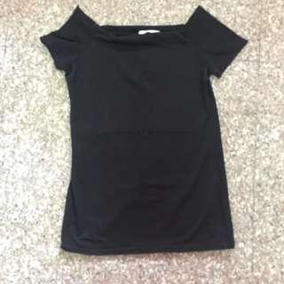 Preloved Catwalkclose off shoulder top in black