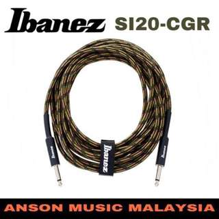 Ibanez SI20-CGR Woven Guitar Cable, 20ft