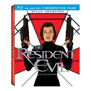 Resident Evil 5 Movie Collection Blu-ray