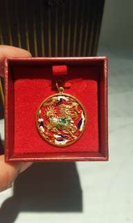 22k carat Gold dragon pendant