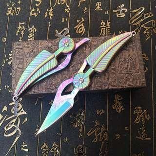 Super Sharp Damascus Knife Leaf Knife  大马士革户外刀 叶子刀#225