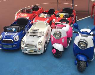 Kids ride, toy cars, battery operated cars for rental or purchase