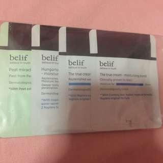 Brand new Belif Samples 4 packs sold together