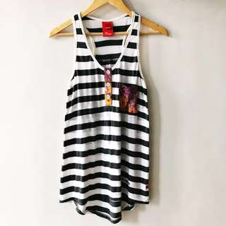 Bayo Black and White Tank Top