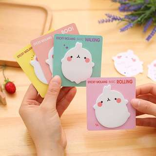 [PO] Molang sticky notes post its