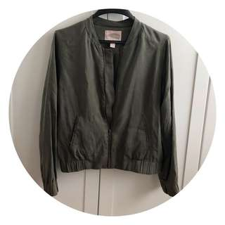 Forever 21 jacket army green