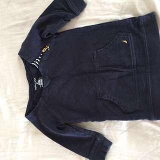 Nautica Designer USA shirt navy girls