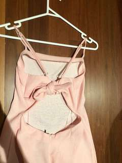 Tie back dress - pink blush BRAND NEW WITH TAGS Size 8