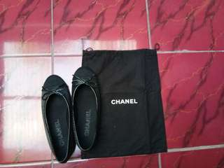 Chanel ballerina black
