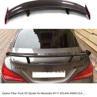 Mercedes Benz Carbon Fiber GT Wing Spoiler for W117 CLA 180 200 250