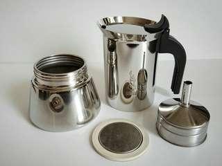 全新Bialetti不銹鋼咖啡壺(6杯份量)
