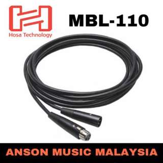 Hosa MBL-110 Microphone Cable, Black, 10ft