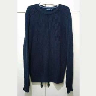 MA154 Nautica Dark Blue Knitted Sweater - Very Good Cond