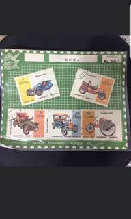 Vintage  stamps ( Ireland, Arab Emirates, and Cuba)