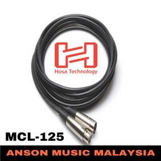 Hosa MCL-125 Microphone Cable, XLR3F to XLR3M, 25ft