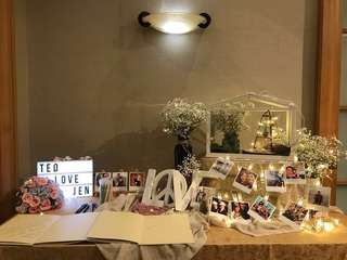 Reception/Photoalbum booth for wedding