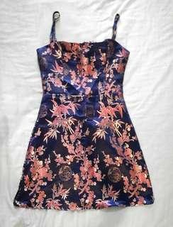 Satin Imperial Mini Dress