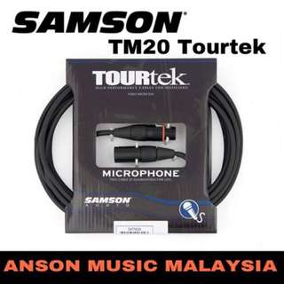 Samson TM20 Tourtek Microphone Cable, 20Ft (6M)