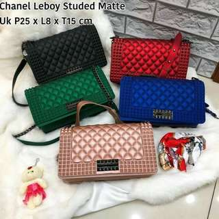 Chanel Leboy Studed Matte  Semi Ori