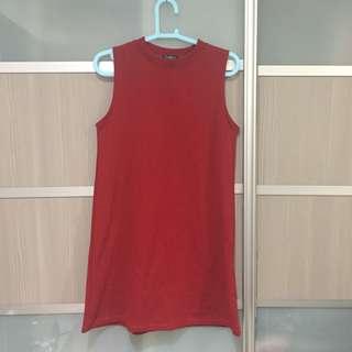 Inspired topshop maroon sleeveless dress #rayaletgo
