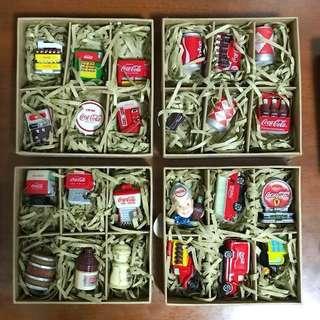 Coca cola collectibles 24 items set 可口可樂 擺設 掛架 24件