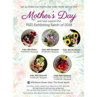 Bouquets for Mother's day