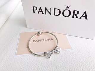 🎉PANDORA💋【潘多拉 】925純銀手鍊!16厘米~22 厘米🎊配送專櫃包裝盒 一件代發!🌹🌹