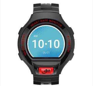 Alcatel Gowatch Smartwatch 49.2 mm black, matt rubber wrist band