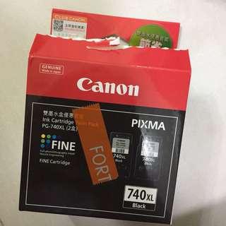 Canon佳能 - PG-740XL - 打印機黑色墨水墨盒連噴墨頭 (高用量)