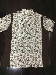 baju batik fit size L