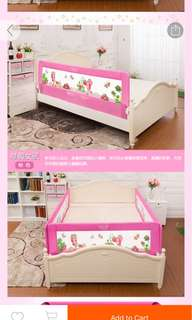 Bed guard pink 2m