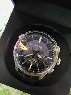 Seiko solar gps men's watch 46mm