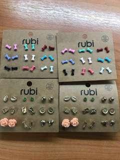 Rubi Earring (18 Pairs)!!