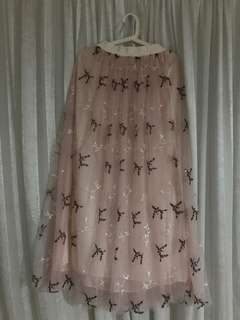 Larney Tulle Skirt in Pink