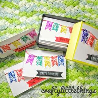 Handmade Birthday Gift card set