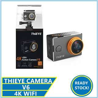 Thieye V6 4k HD Camera with Replaceable Rilters V5 T5 T5E