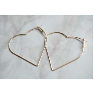 NEW! Heart Earrings (Silver & Gold)