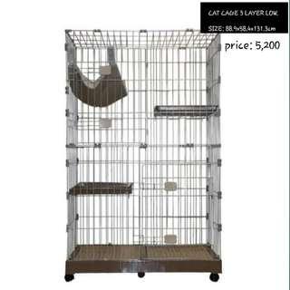 Cat three layer cage
