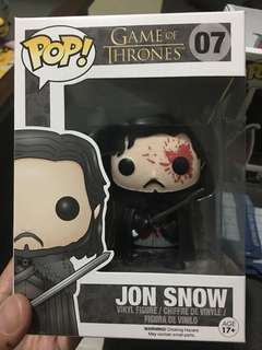 Funko pop game of thrones jon snow bloody exclusive